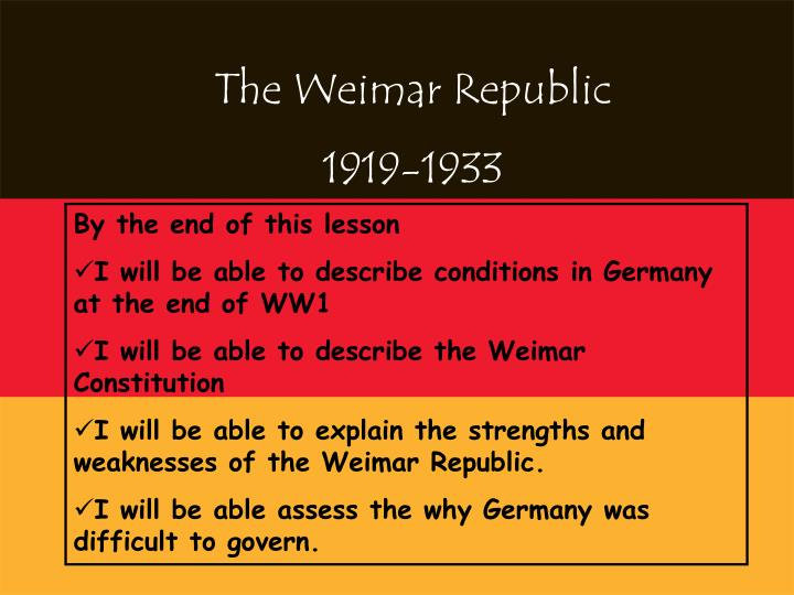 what were the weaknesses of the weimar constitution
