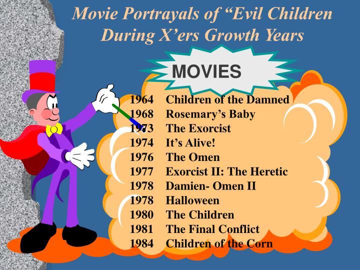 """Movie Portrayals of """"Evil Children"""