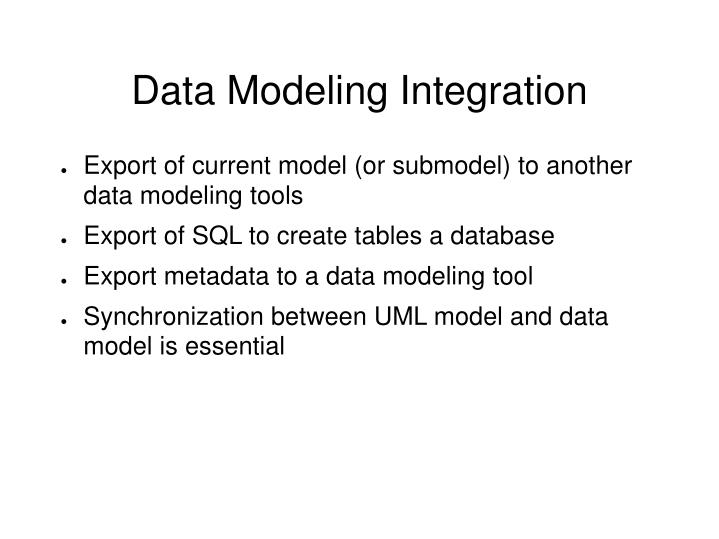 Data Modeling Integration