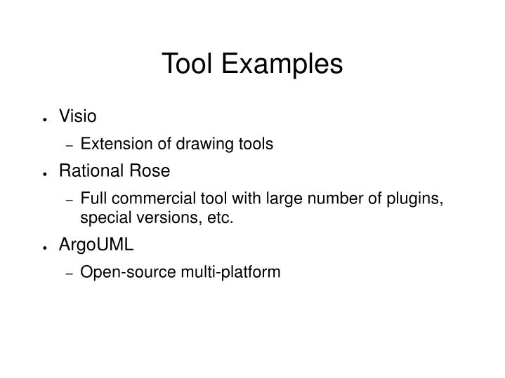 Tool Examples