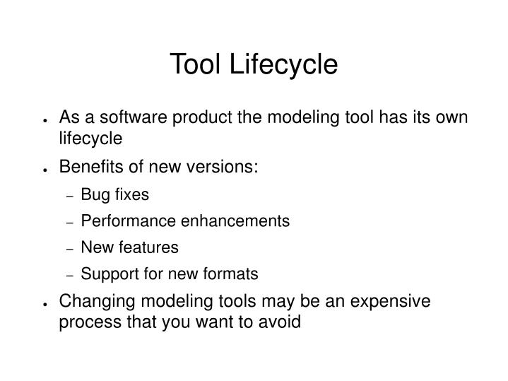 Tool Lifecycle