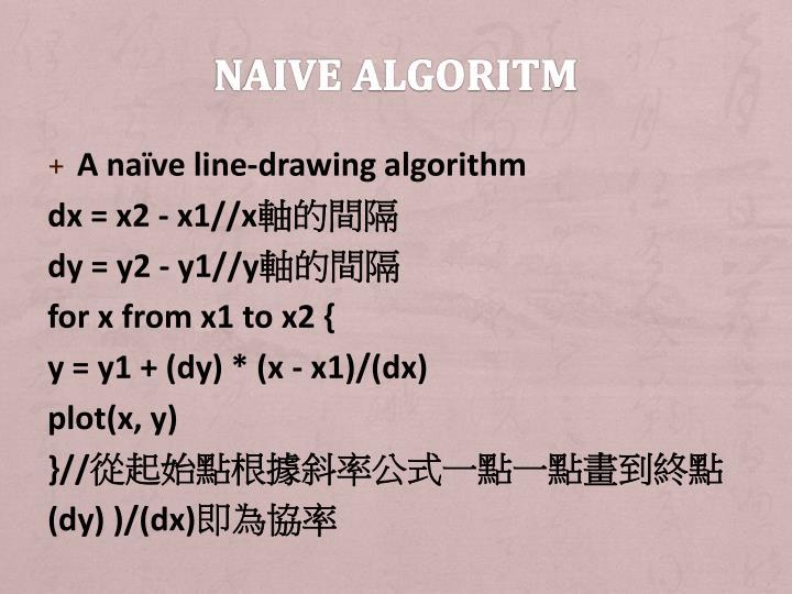 Naive algoritm