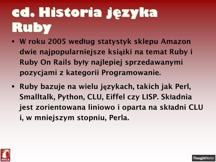 cd. Historia języka Ruby