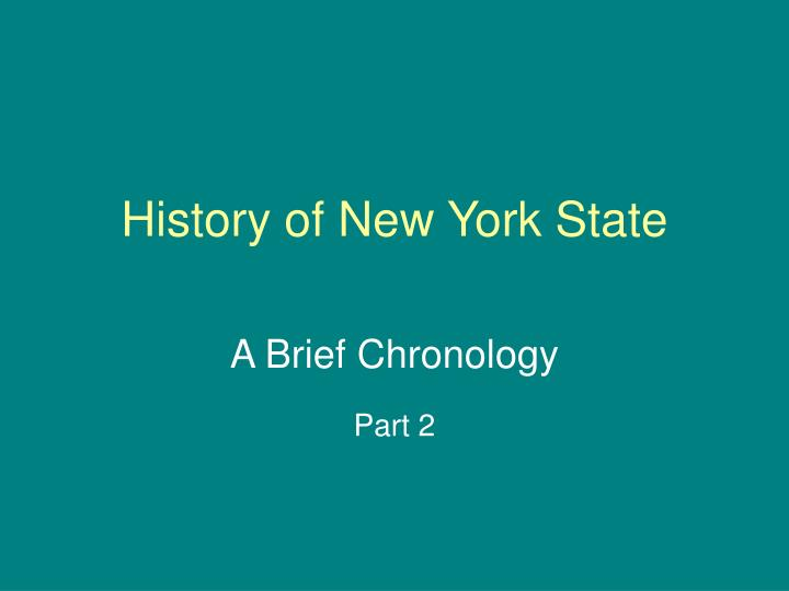 history of new york state n.