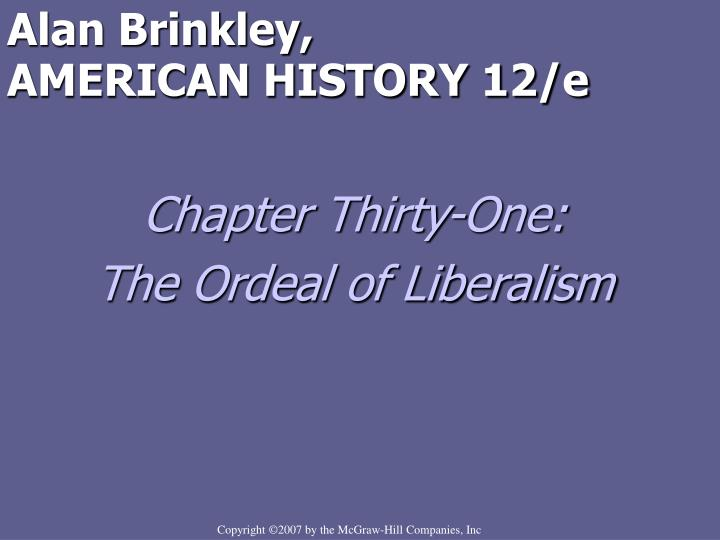 chapter 29 civil rights vietnam and the ordeal of liberalism essay