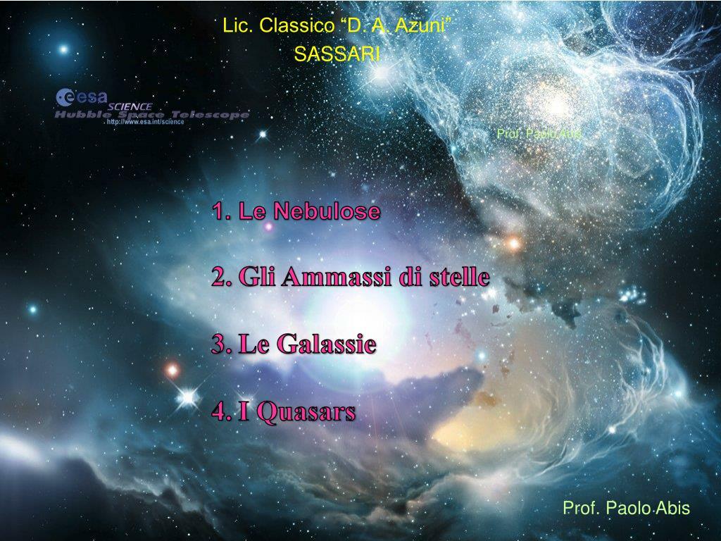Ppt Le Nebulose Gli Ammassi Di Stelle Le Galassie I Quasars