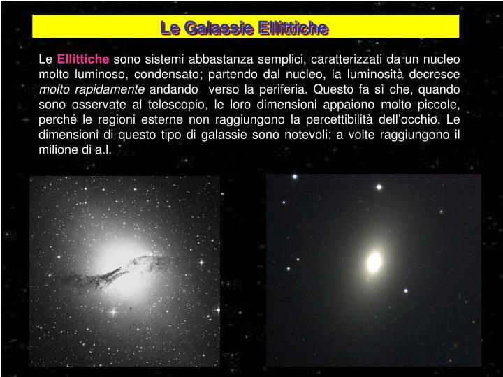 Le Galassie Ellittiche