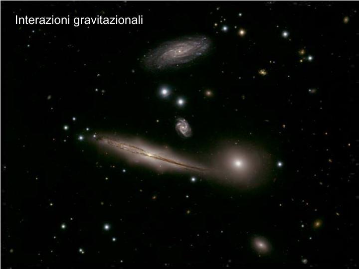 Interazioni gravitazionali