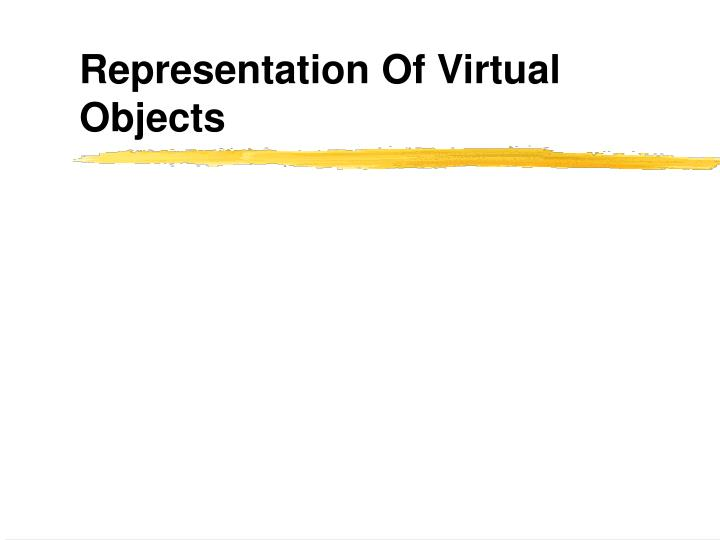 representation of virtual objects n.