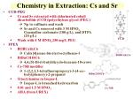 chemistry in extraction cs and sr