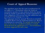 court of appeal reasons