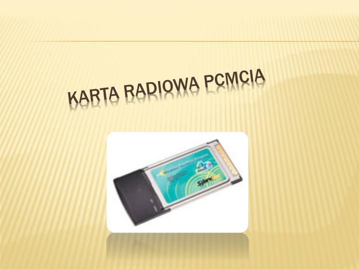 Karta Radiowa PCMCIA