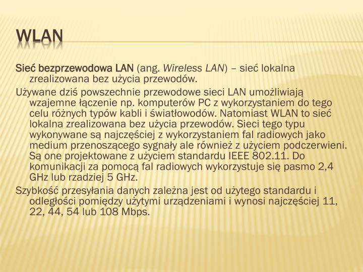 Sieć bezprzewodowa LAN