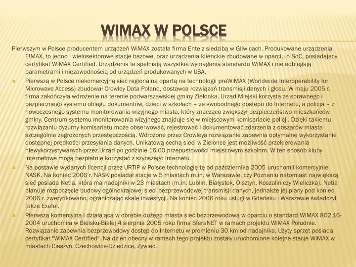 Pierwszym w Polsce producentem urządzeń