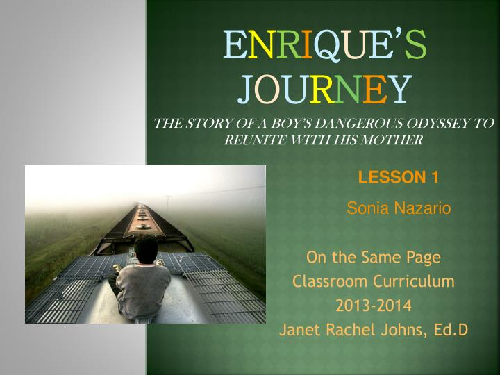book case study enrique's journey