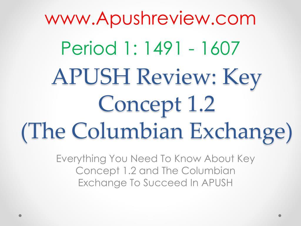 PPT - APUSH Review: Key Concept 1 2 (The Columbian Exchange