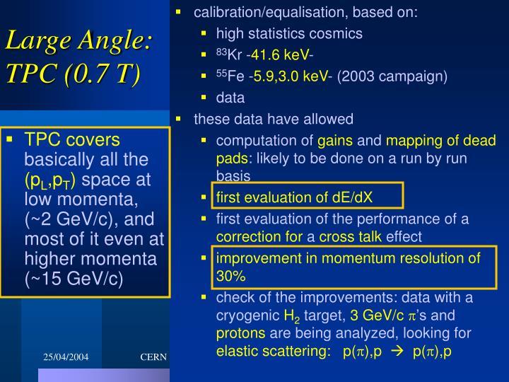 calibration/equalisation, based on: