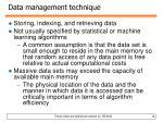 data management technique
