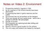 notes on video 2 environment