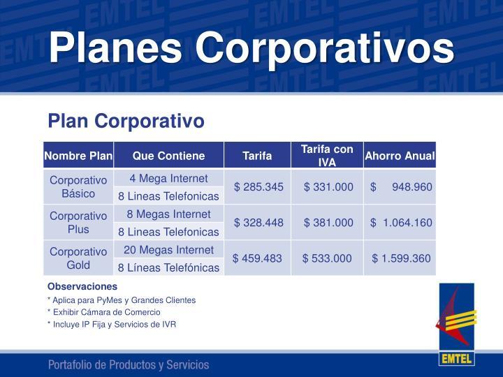 Planes Corporativos