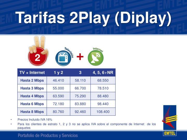 Tarifas 2Play (