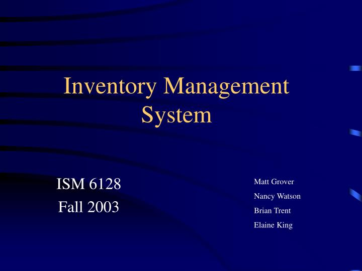PPT - Inventory Management System PowerPoint Presentation