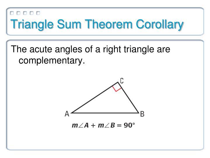 Triangle Sum Theorem Corollary
