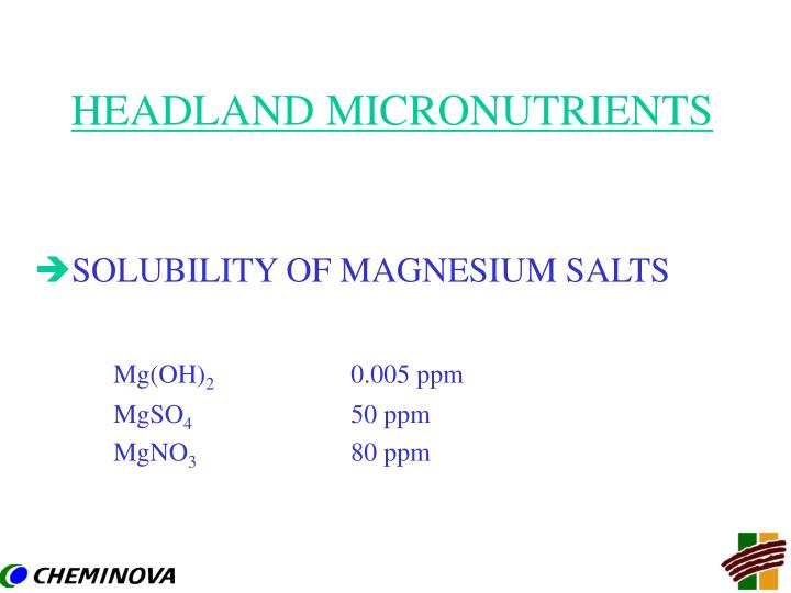 Headland micronutrients1