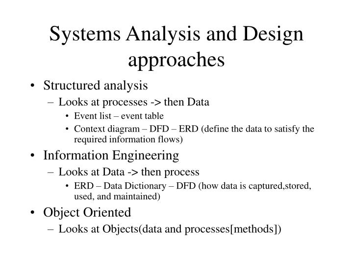 Ppt Systems Analysis And Design Approaches Powerpoint Presentation Free Download Id 5725485