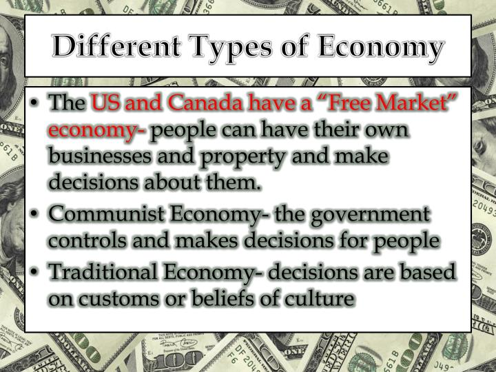 differences types economies Critics of mixed economies claim that they often _____ too heavily and as a result are less competitive than nations with _____ economies bcr: compare the government's role in market, command and mixed economic systems.