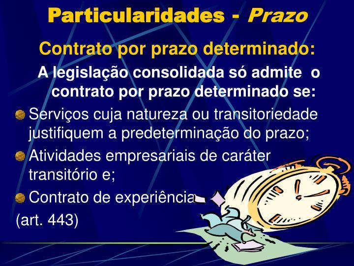 Particularidades prazo1