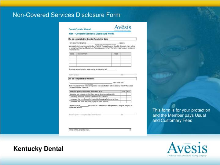 Non-Covered Services Disclosure Form
