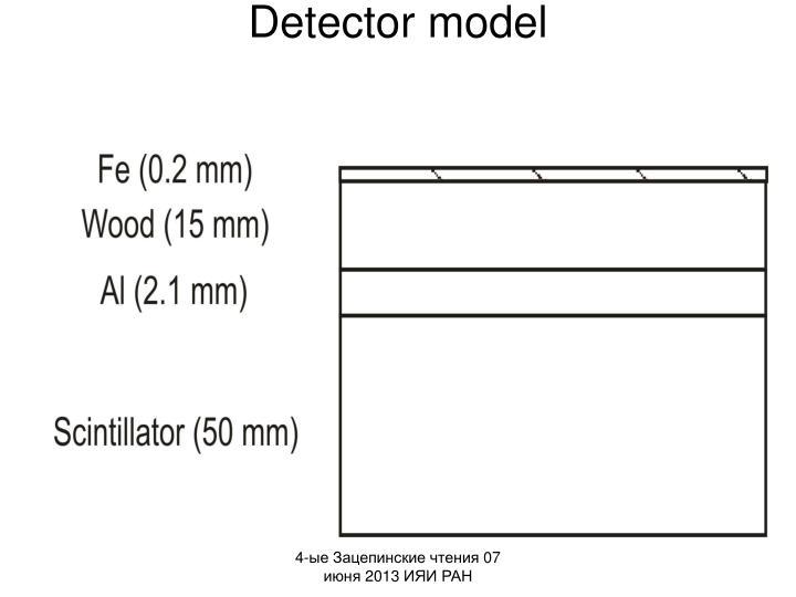 Detector model