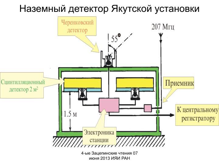 Наземный детектор Якутской установки