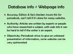 database info webpage info1