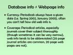 database info webpage info2
