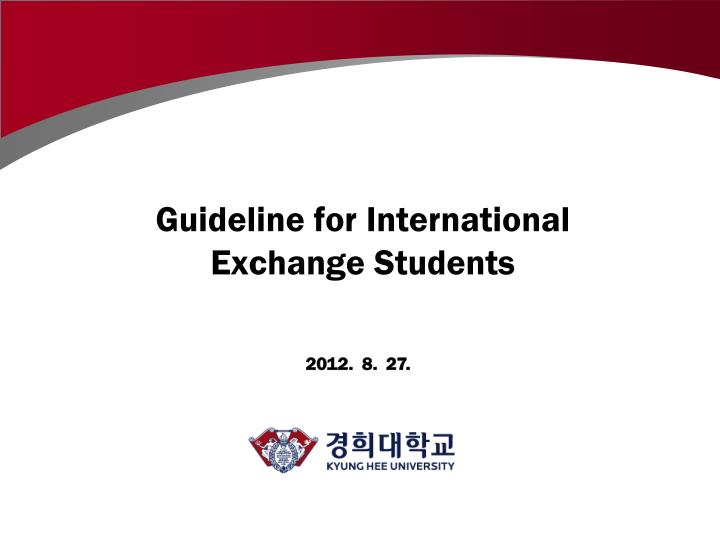 guideline for international exchange students n.