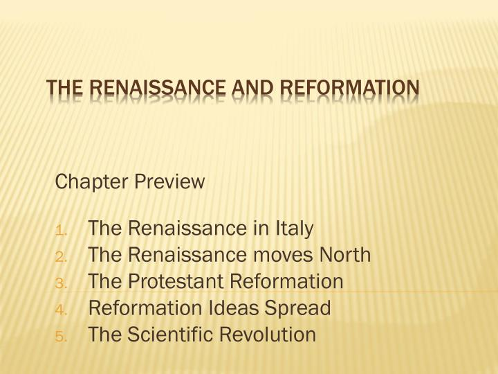 "essay on the renaissance and reformation Longenecker, joe (social studies) ""the renaissance marked a new era in thought and feelings by which europe and its institutions were reformation essay."