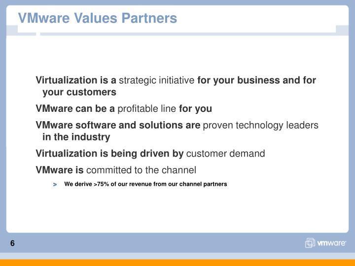 VMware Values Partners