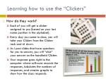 learning how to use the clickers1