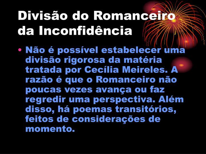 Divisão do Romanceiro da Inconfidência