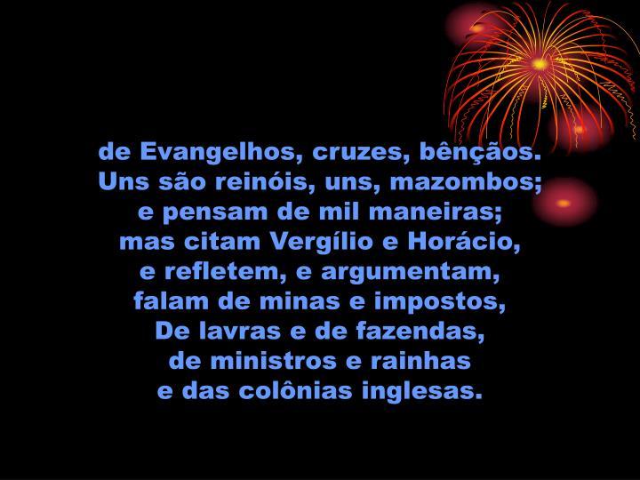 de Evangelhos, cruzes, bênçãos.