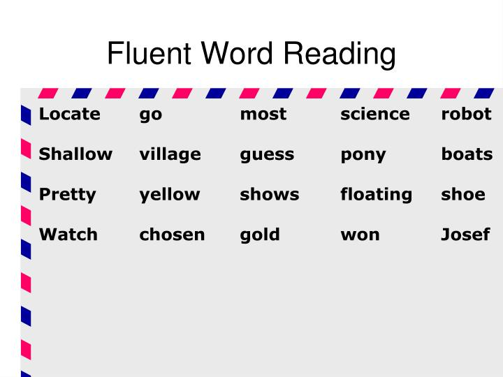 Fluent Word Reading
