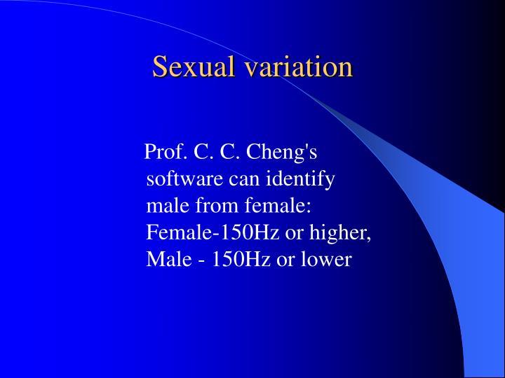 Sexual variation