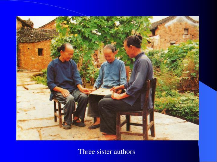 Three sister authors