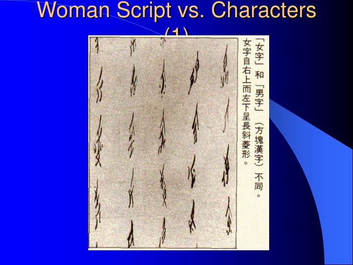 Woman Script vs. Characters (1)