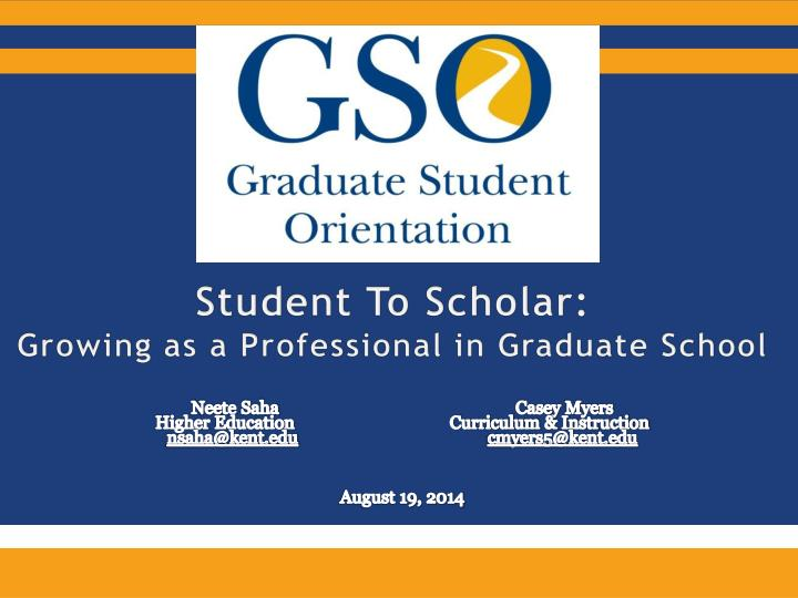 student to scholar growing as a professional in graduate school n.