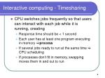 interactive computing timesharing