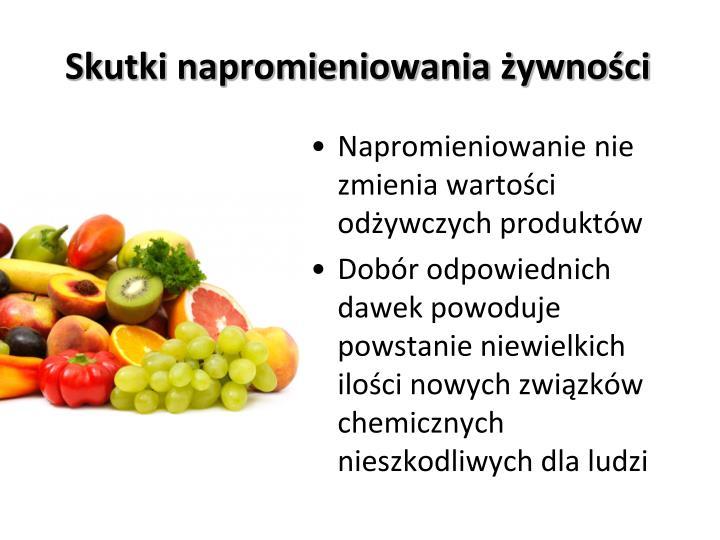 Skutki napromieniowania żywności