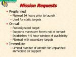 mission requests